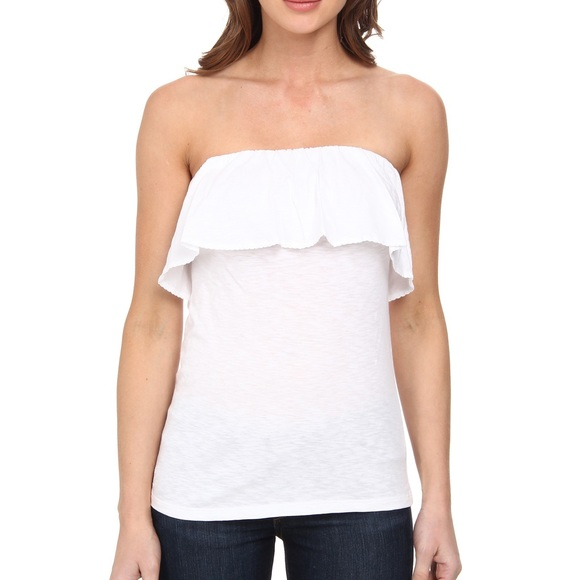 c4c29bdfa4 Lilly Pulitzer Tops -   LILLY PULITZER   white ruffle tube top